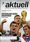 Länderspiel 03.09.2014 Deutschland - Argentinien, Poster WM 2014 Tore zum Titel