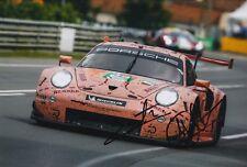Christensen, Estre Hand Signed Porsche 911 12x8 Photo 2018 Le Mans 4.