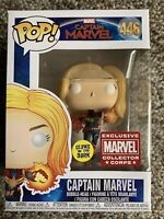Funko Pop! Marvel Captain Marvel #446 GITD Collector Corps Exclusive Brie Larson