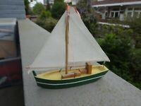 Miniatura barco velero holandés artesano. Hand made miniature dutch ship