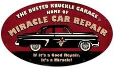 Busted Knuckle Garage Miracle Car Repair Metal Sign Man Cave Shop Club BUST031