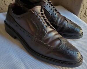 Mens Hanover SHELL CORDOVAN Shoes LB SHEPPARD Sz 9.5 D/B Wingtips Longtips 2351