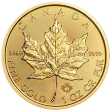 2018 $50 Gold Canadian Maple Leaf .9999 1 oz Brilliant Uncirculated