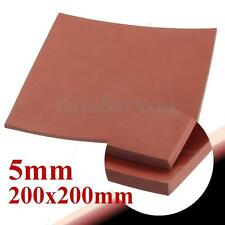 "Red 5mm 1/5"" Thickness 8""x8"" Square Rubber Sheet Chemical Resistance High Temp"