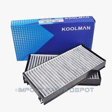 BMW AC Cabin Air Filter Charcoal Carbon Koolman OEM Quality 64119248294 (2pcs)