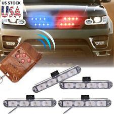 Car 16 LED Red & Blue Police Strobe Flash Light Dash Emergency Warning Lamp 12V
