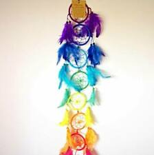 Fair Trade 7 Chakra Coloured Dreamcatcher Handmade With Feathers