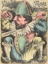 MUSEE horreurs Dreyfus Le Breton Punchinello Wall Poster Art Print LF3355