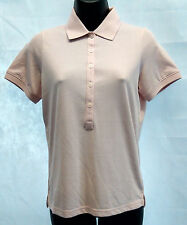 Ashworth Ladies High Twist Polo Shirt Top Brand New Size Small Pink Sand #W385