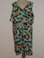 Land's End Tropical Print Jersey Cotton Blend Knit Dress NWOT $69.95 sz 2X