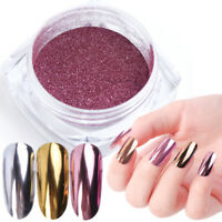 Nail Art Glitter Mirror Metallic Powder Dust Chrome Pigment Decoration Tool DIY