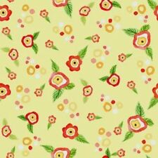 Ranunculus Tiny Floral Posies 4AJA-2 Creamy Yellow In the Beginning Fabrics BTY