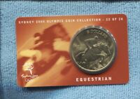 2000 Equestrian Sydney Olympic $5 UNC Coin Horse jumps