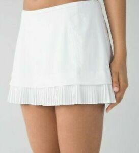 LULULEMON NEW WITH TAG Most Popular Discontinued WHITE City Sky Run By Skirt 10