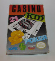 Casino Kid (Nintendo Entertainment System, 1989) Complete CIB NES Game Good