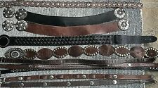 Mixed Lot Of 10 Leather Belts Concho, Hobo, Brighton