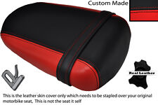 BLACK & RED CUSTOM FITS SUZUKI 600 750 GSXR 08-10 K8 K9 L0 REAR LTHR SEAT COVER
