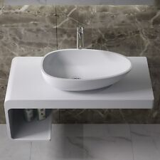 Countertop Solid Surface Stone Resin Glossy Bathroom Sink 24 x 14 - CW-108