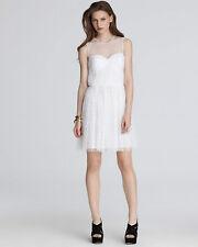 $365 CYNTHIA STEFFE 'Bethany' Ultra White Swiss Dot Sleeveless Dress sz 8 NWT