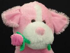 BIG VALENTINE PINK ROSE PUPPY DOG PLUSH STUFFED ANIMAL GIFT LOVE BEST FRIEND TOY