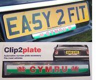 Rugby World Cup Clip2plate Wales (Cymru) Car Number Plate Badge