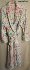 Plush & Cozy White Snowflake 1x Plus Size Full Length Bath Robe Free Shipping