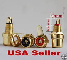 20 pcs Mini Size Female Amplifier RCA Jack Chassis Mount 24K Gold E1611 USA