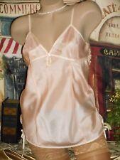 USA Sm 100% REAL Silk Cami Pink MOP Buttons Charming Detail