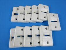 11 Stück Rollladen-Gurtführung für 23mm Maxi Gurtband eckig Kunststoff Creme