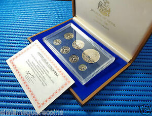 1981 Nepal King Birendra Coronation Cupro-Nickel and Silver Proof Coin Set
