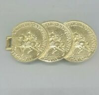 Vintage MIMI Di N HORSE Coins BELT BUCKLE
