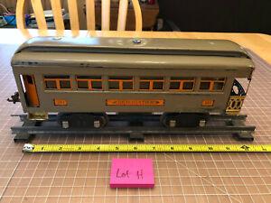 """Lionel Lines Train Standard 341 Olive Drab 12"""" Observation Passenger Car - Lot H"""