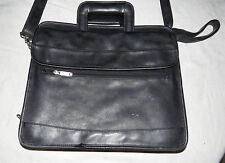 PVC with SafePort Black Briefcase 4.5 by 11 by 14 inches & Retractible handles