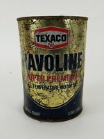 Vintage Texaco Havoline Metal 1 Quart Motor Oil Super Premium