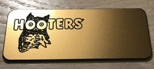 HOOTERS WINGHOUSE Costume Combos Pick Pantyhose Socks Name Tag BLACK Q 2XL 3XL