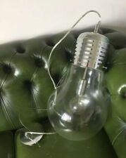 GIANT CHROME LIGHT BULB CEILING LIGHT PENDANT INDUSTRIAL RETRO LAMP SHADE K51