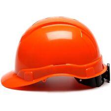 Pyramex Hard Hat Cap Style Orange with 6 Point Ratchet Suspension