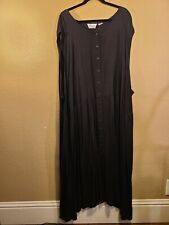 Women's Plus Size 6X Sleeveless Long Black Dress 100% Rayon