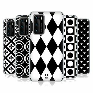 HEAD CASE DESIGNS BLACK AND WHITE PATTERNS SOFT GEL CASE FOR HUAWEI PHONES 4