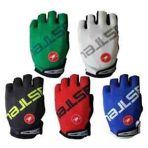 New 2021 Castelli Half Finger Bike Bicycle Gloves Breathable MTB BMX Mountain