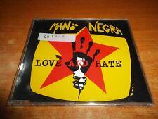 MANO NEGRA Love hate CD SINGLE PROMO 1994 ESPAÑA MANU CHAO CONTIENE 1 TEMA