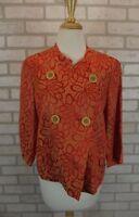 NEW Talbots Women's Blazer Jacket Sz 8 Coat NWT Suit Orange Floral Dress Top