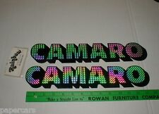 Chevy Chevrolet CAMARO 1977-1978-1979 vintage unused prism decal sticker pair