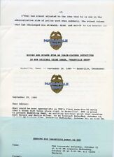 MARTIN MILNER KENT MCCORD NASHVILLE BEAT ORIGINAL 1989 TNN TV PRESS MATERIAL