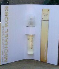 MICHAEL KORS 24K BRILLIANT GOLD Eau de Parfum, 1.5 ml Sample on Card.