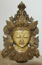 Large White Tara Buddhist Deity Hard Resin Wall Hanging Sculpture ~ from Nepal