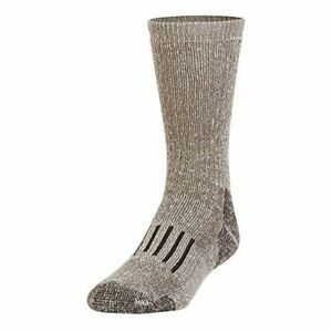 2 Pairs Powersox by Gold Toe Wool Blend Cushioned Boot Socks Taupe Marl Large