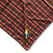 BSA Boy Scouts America Webelos Uniform Scarf Bandana Neckerchief Plaid Twill