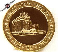 $.50 CENT FULL PROOF BRASS SLOT TOKEN RIVERSIDE CASINO 1967 FM MINT RENO NEVADA