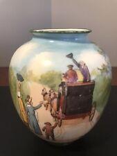 Royal Doulton Vase Blue Sky 'Coaching Days'